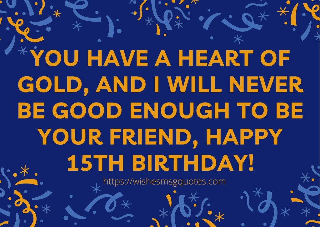15th Birthday wishes From Aunt To Boy Or Girl