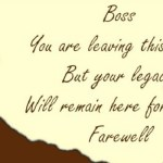 Amazing Farewell Wishes For Boss 2017