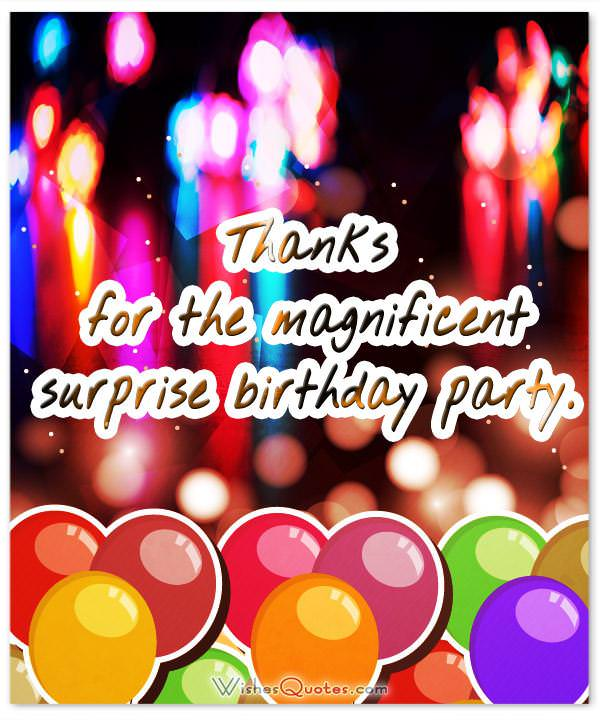 Thank You For The Surprise Gift : thank, surprise, Amazing, Thank, Messages, After, Surprise, Birthday, Party