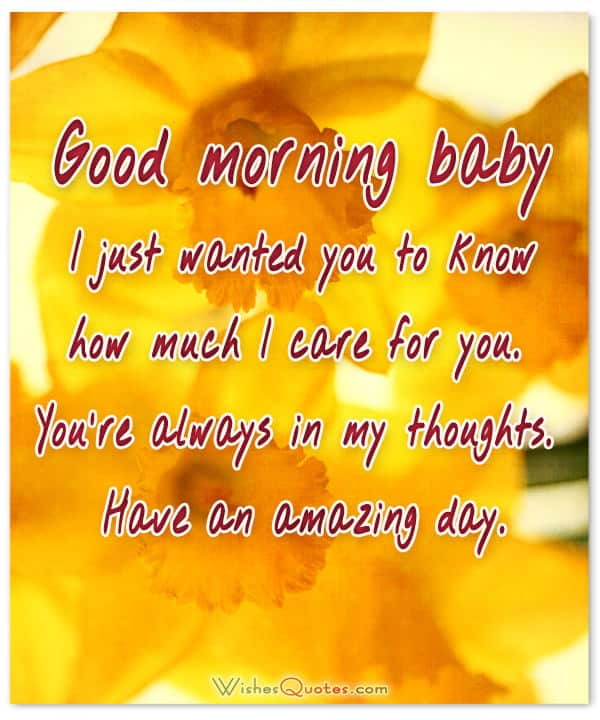 Good Morning Baby Quotes : morning, quotes, Sweet, Morning, Messages, Adorable, Images