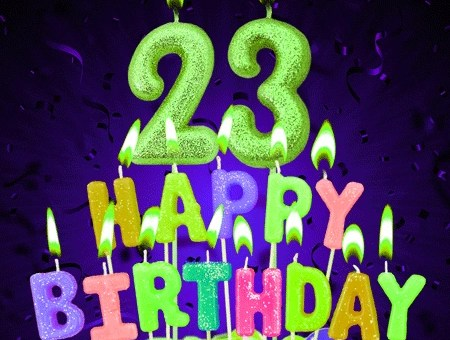 Happy Birthday wishes for 23-year-old Boy and Girl