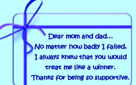 Thanks messages and quotes for Parents