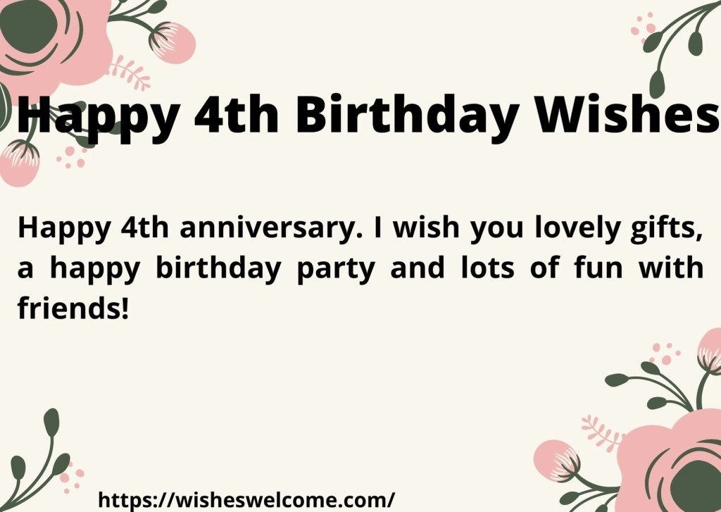 4rth birthday wishes for girls