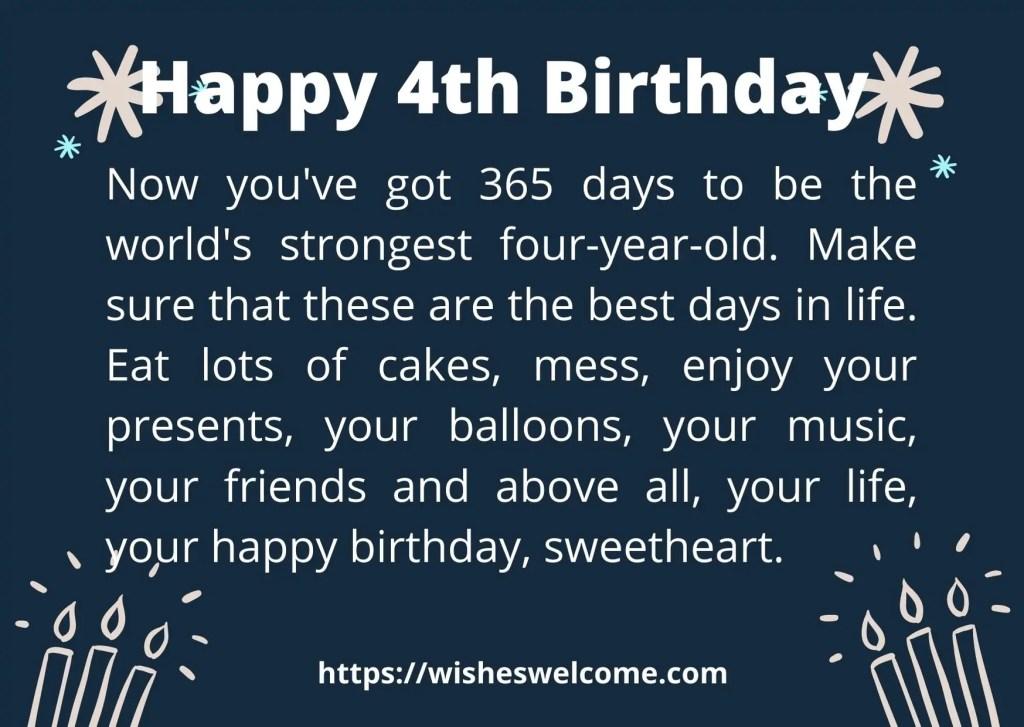 4rth birthday wishes