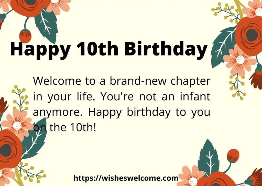 Happy 10th birthday qoutes