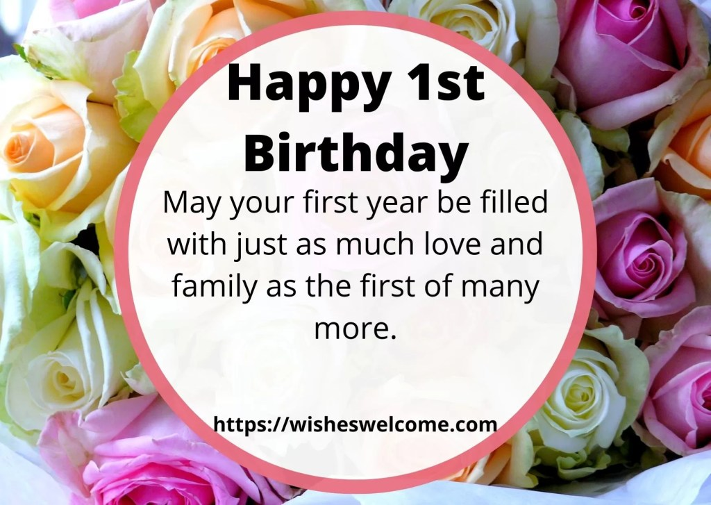Happy 1st birthday wishes for girls and boys