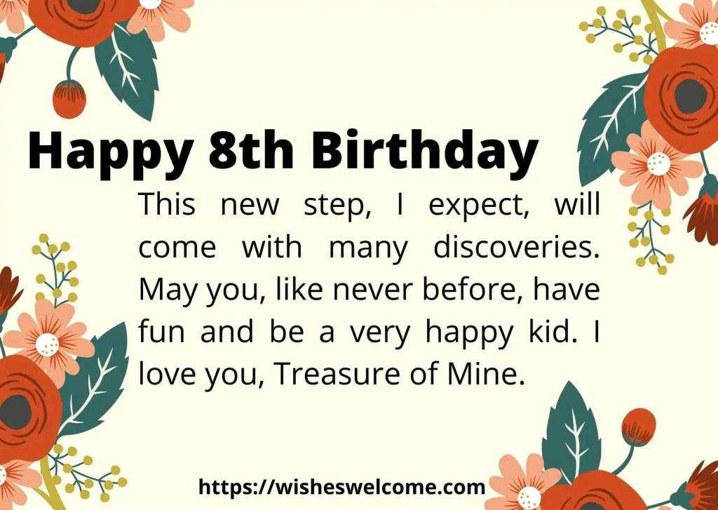 Happy 8th Birthday wishes