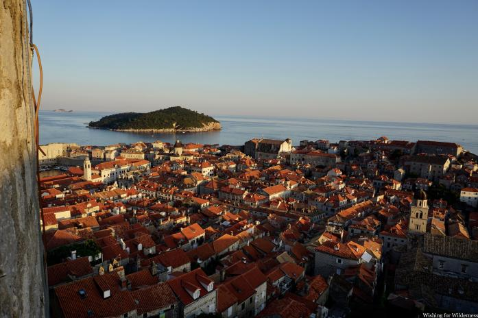 Sunset view over Dubrovnik