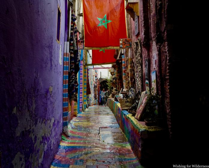 A colourful street in Fes medina