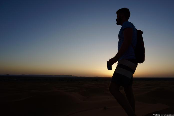 Silhouette in the dunes