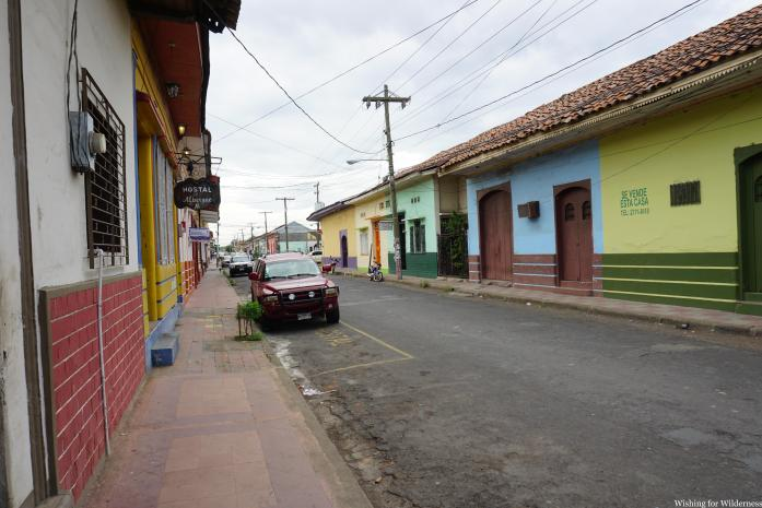 Colourful houses in León