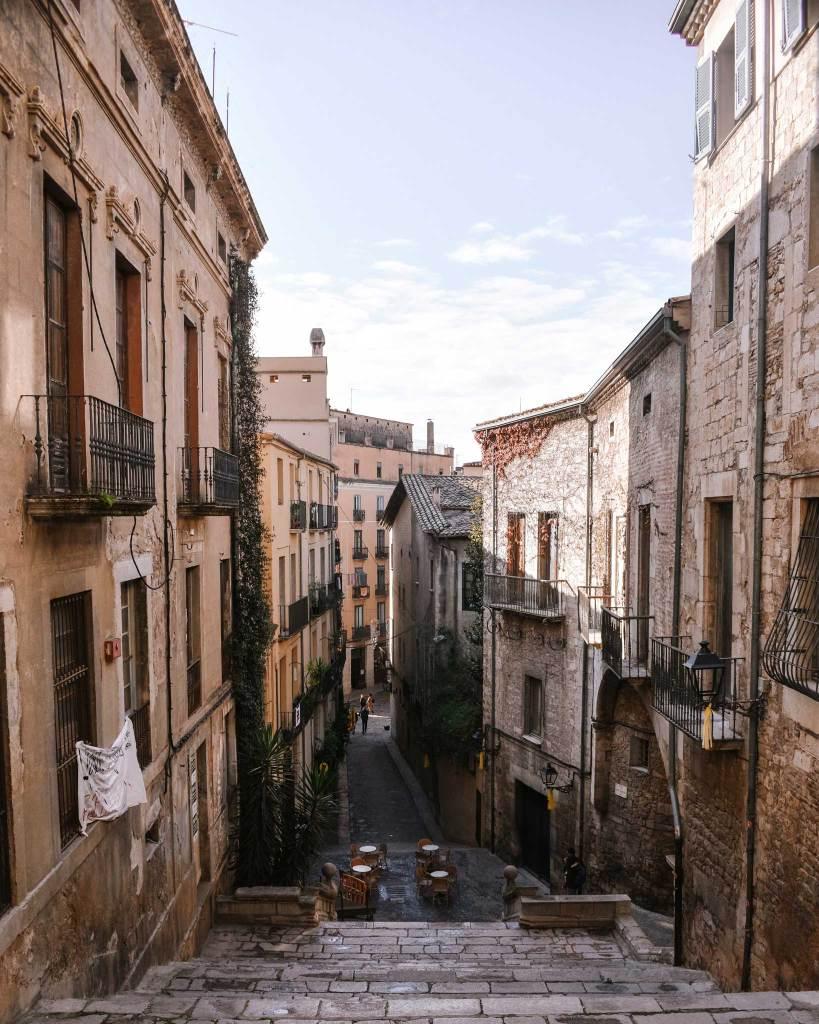 Street in Girona Old Town