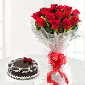 Combo gift cake and flower bunch wishing shop combo gift cake and flower bunch negle Images