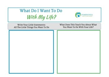 Do with my life worksheet