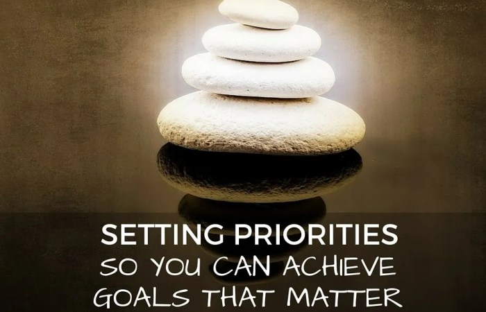 Setting Priorities So You Can Achieve Goals That Matter