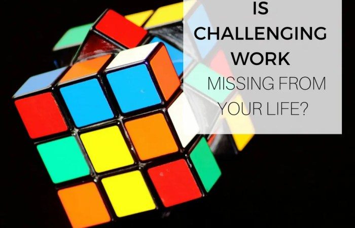Is Challenging Work Missing From Your Life?