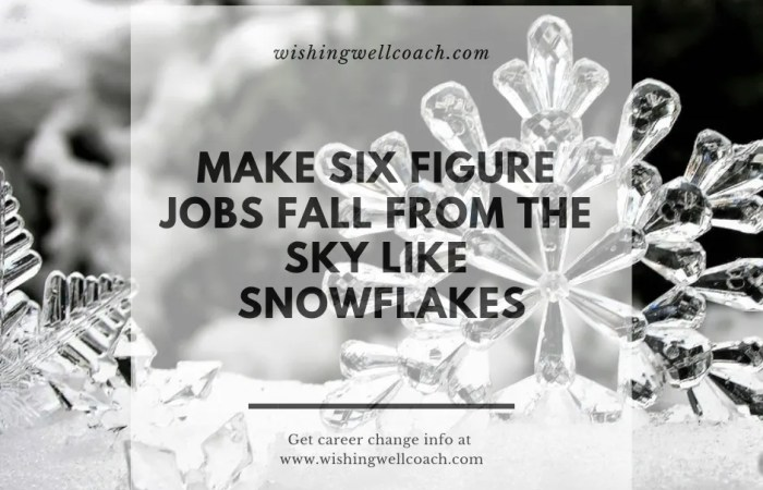 Six figure jobs