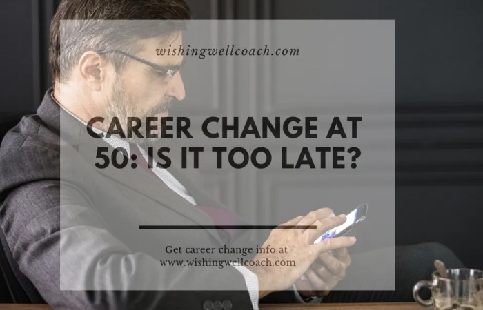 career change at 50
