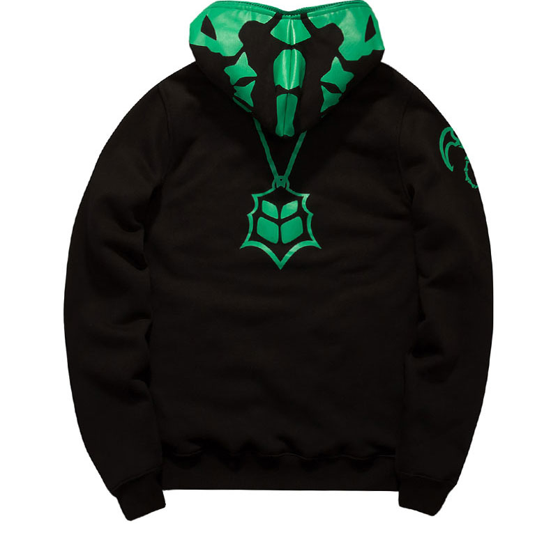 LOL Thresh Chain Warden Sweatshirt Black Full Face Cosplay