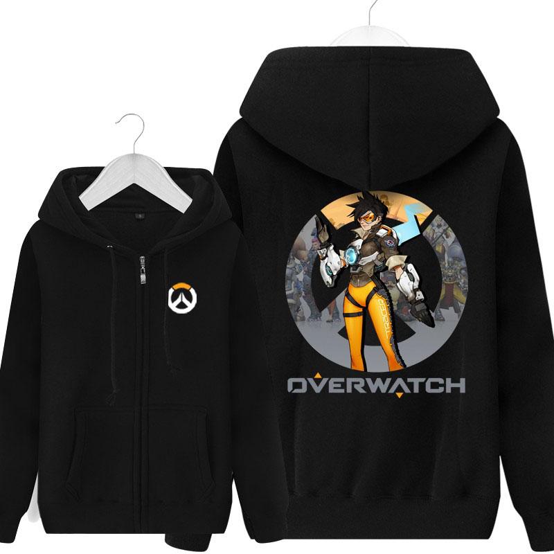 Overwatch Tracer Sweatshirt Mens Hoodie Wishining