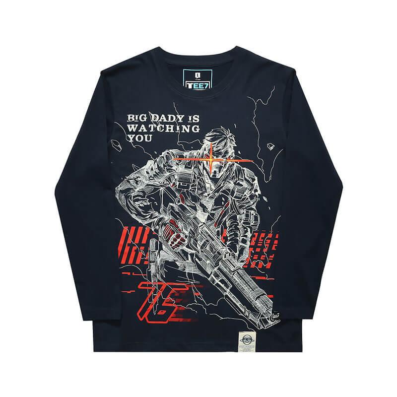 Blizzard Overwatch Soldier 76 Shirts Men Black T Shirt