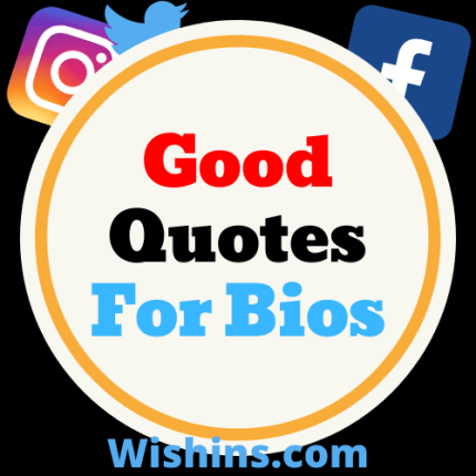 good quotes for bios