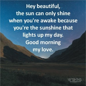 Romantic Good Morning Message for Her to Fall in Love
