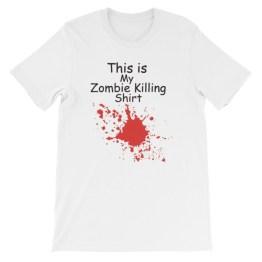 This Is My Zombie Killing Shirt Unisex short sleeve t-shirt