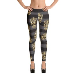 Gold Skull Leggings