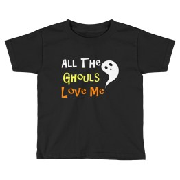 All The Ghouls Love Me Kids Short Sleeve T-Shirt