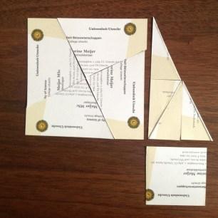 vierkanten aan de rechthoekszijden van de driehoek