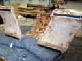 Concrete TV Stand Polishing