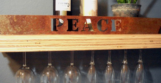 Peace Plywood shelf