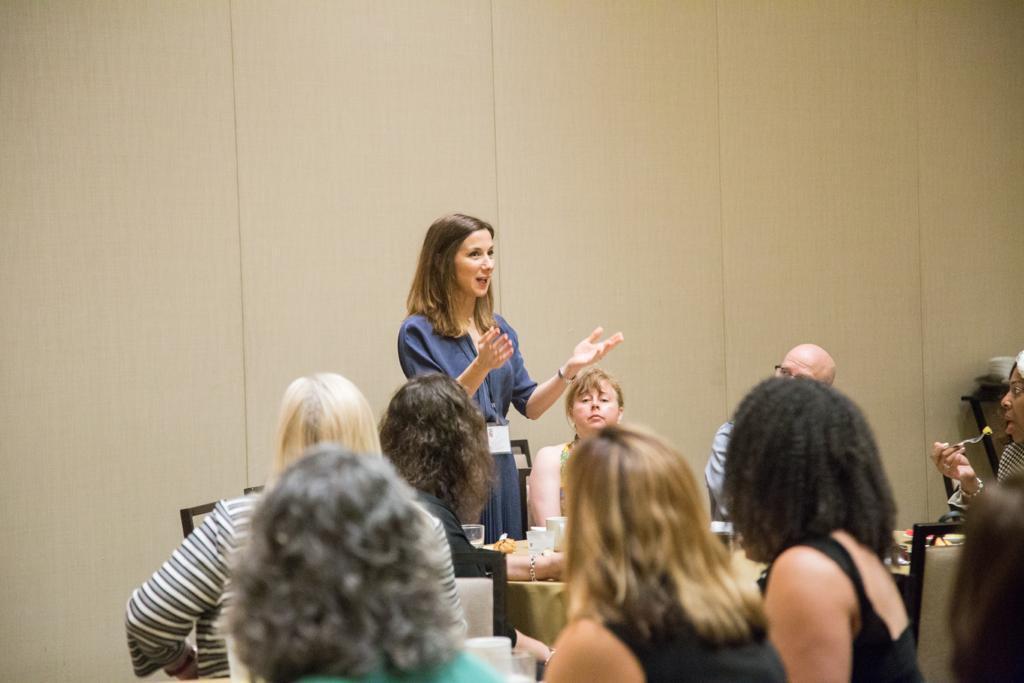 WISLaw Co-Founder introduces WISLaw at the Women in SLA Breakfast