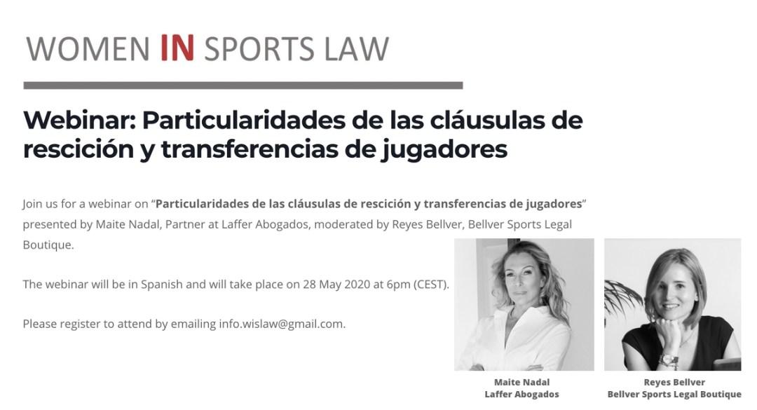 Webinar Particularidades de las clausulas de rescicion y transferencias de jugadores - 28 May 2020