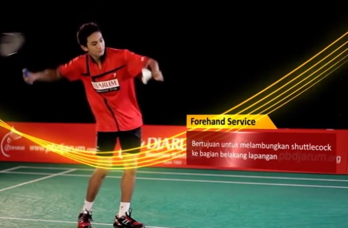 forehand servis