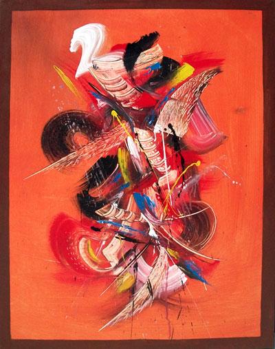 Lukisan Abstrak Fajar Sidik