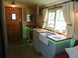 Silver Dollar Interior - Sink and Cooker
