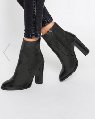 ASOS, ELLE Leather Sock Boots, £55