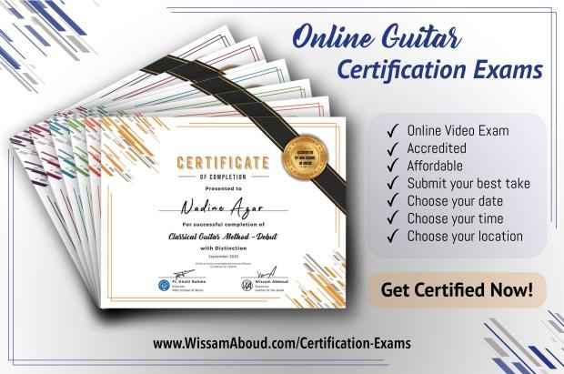 Online Guitar Certification Exams
