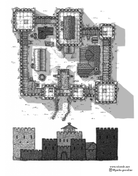 castle map fantasy medieval maps draw tutorial dungeons dragons drawn village down homebrew locations places artwork technique buildings example