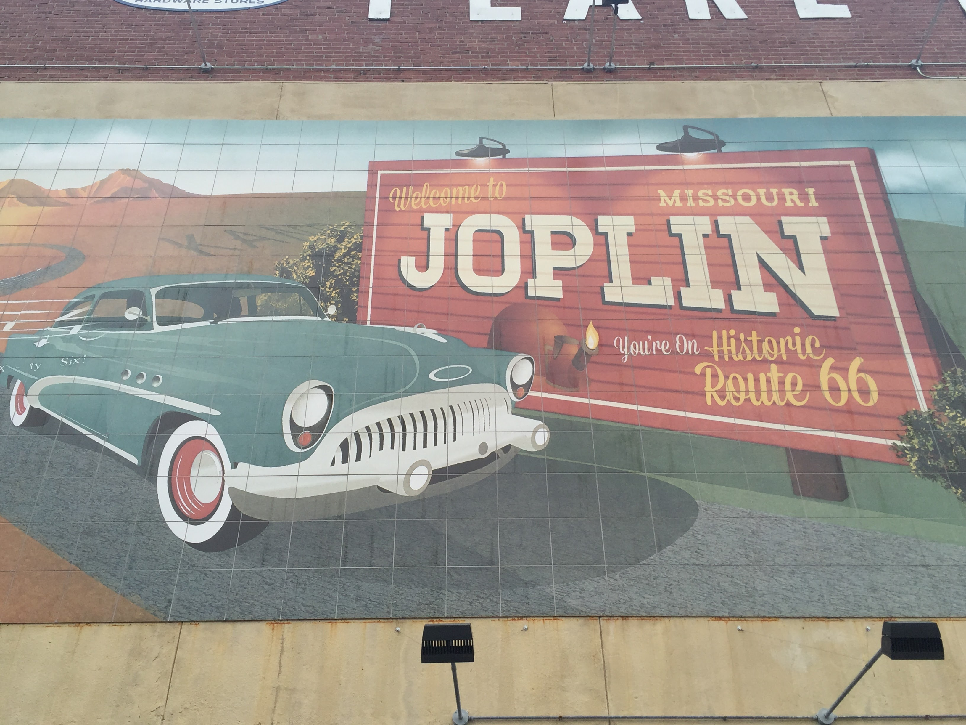 Oklahoma to missouri for Route 66 mural