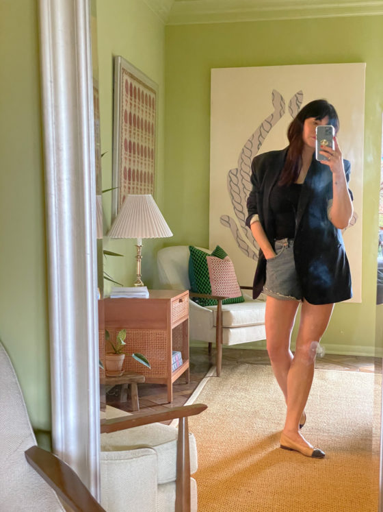 5 of My Favorite  Transitional Outfits for Spring, Paired with Denim Shorts