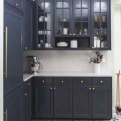 Navy Kitchen Cabinets Wall Mount Sink In Defense Of Messy Countertops Wit And Delight