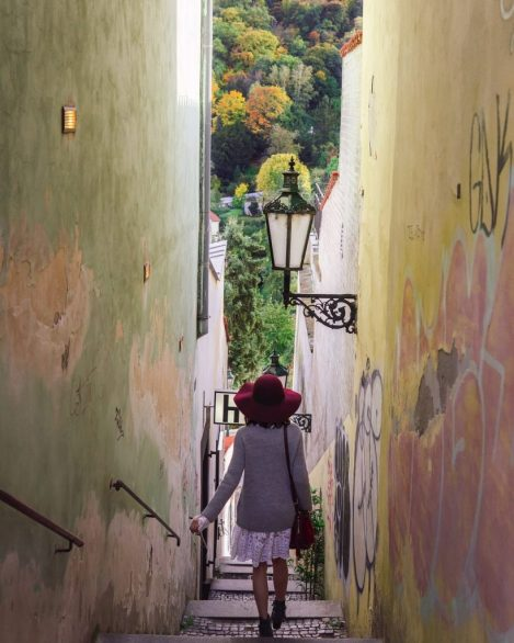Narrowest Street in Prague - witandfolly.co