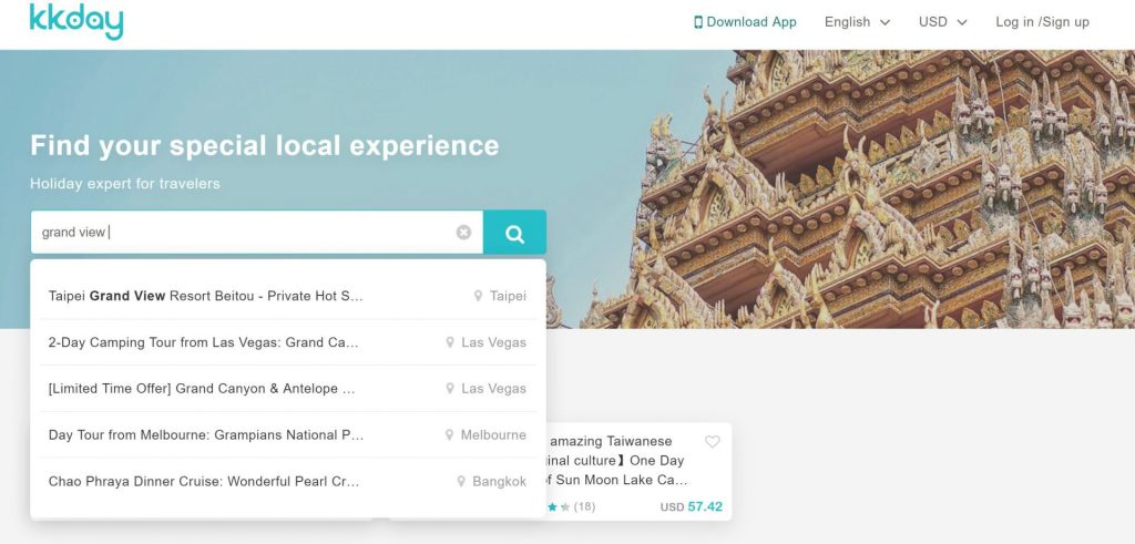 KKday Travel Search Bar - witandfolly.co