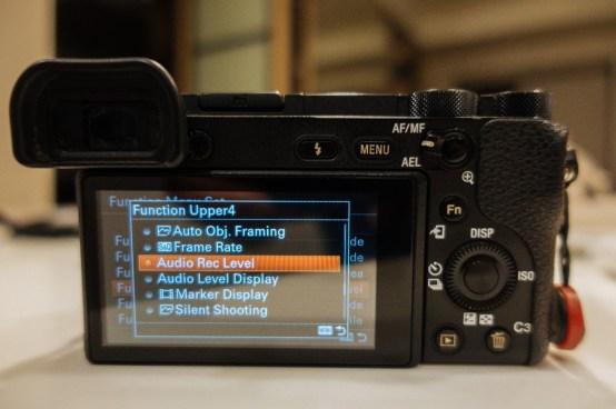 Function Menu Set Internal Menu Choice on Sony a6500 - sony a6500 audio settings - witandfolly.co