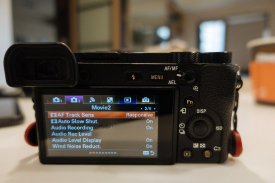 Menu camera 2 sub menu 2 of 9 tab on Sony a6500 - sony a6500 audio settings - witandfolly.co