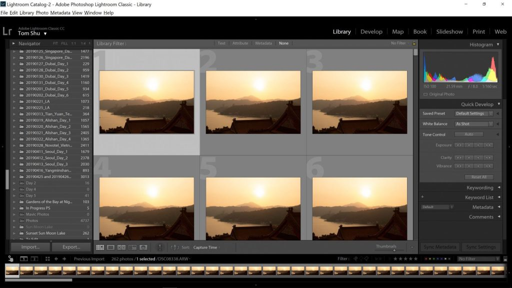 Selecting Image to Edit in Adobe Lightroom - witandfolly.co