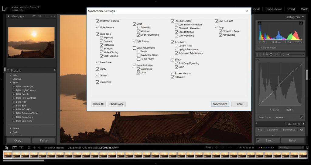 Synchronize Settings Dialog box - witandfolly.co